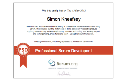 Professional Scrum Developer (PSD)
