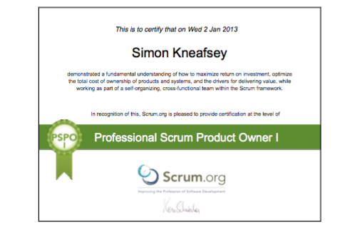 Professional Scrum Product Owner I (PSPO I)