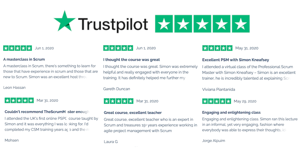 TheScrumMaster.co.uk Trustpilot