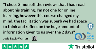 I chose Simon off the reviews that I had read about his training. I'm not one for online learning, however this course changed my mind, the facilitation was superb we had space to think and reflect on the huge amount of information given to us over the 2 days
