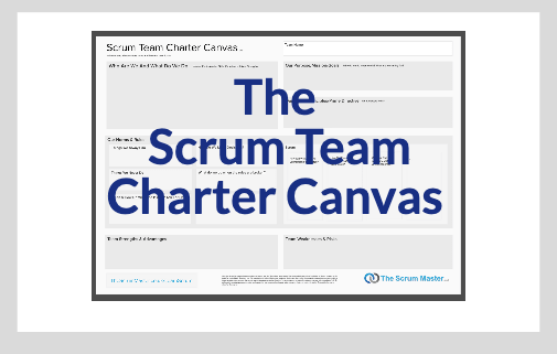 Scrum Team Charter Canvas